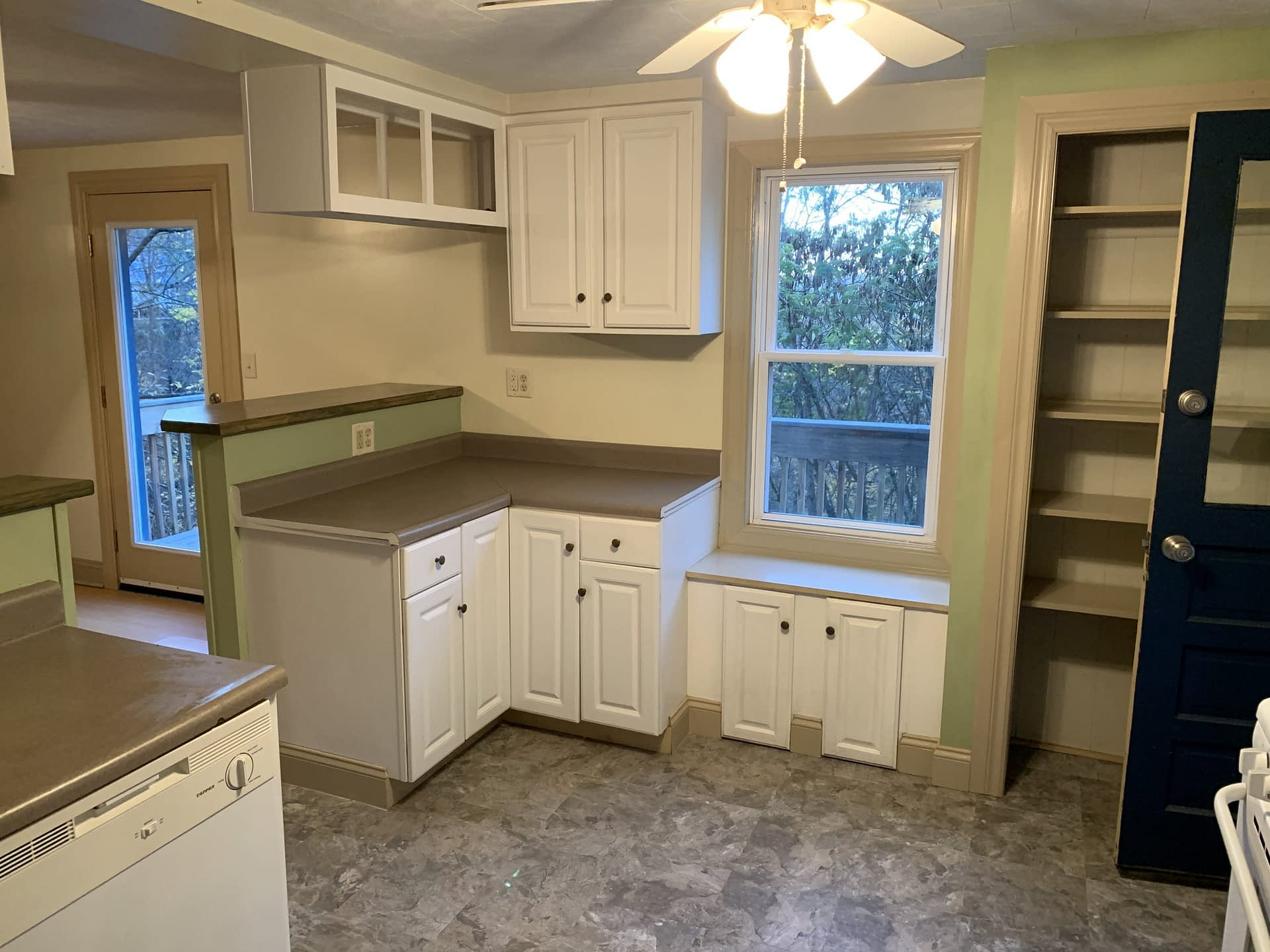 Kitchen Counters and window