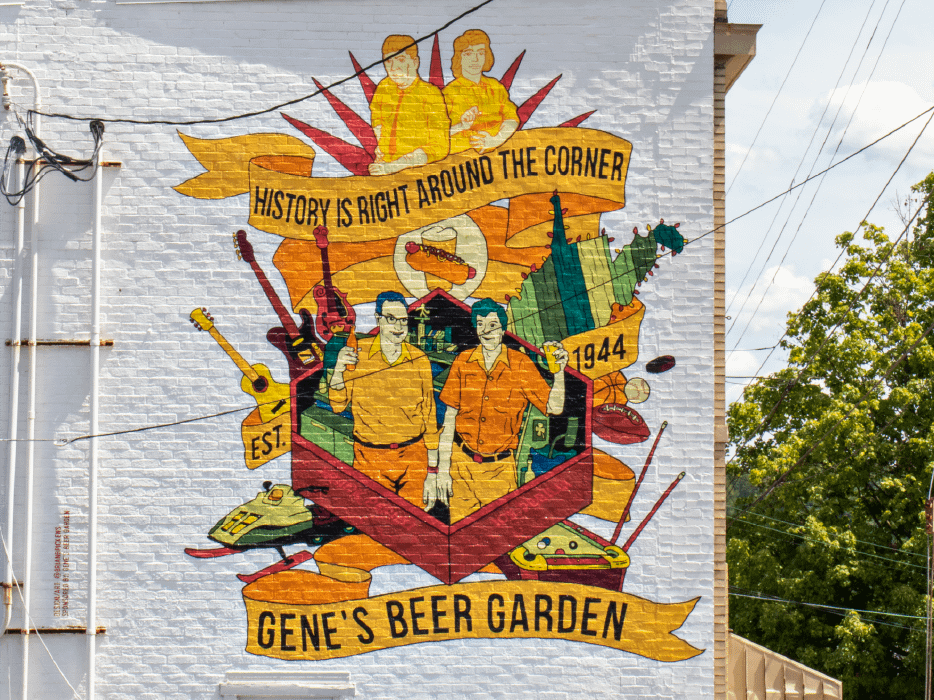 Mural on Gene's Beer Garden