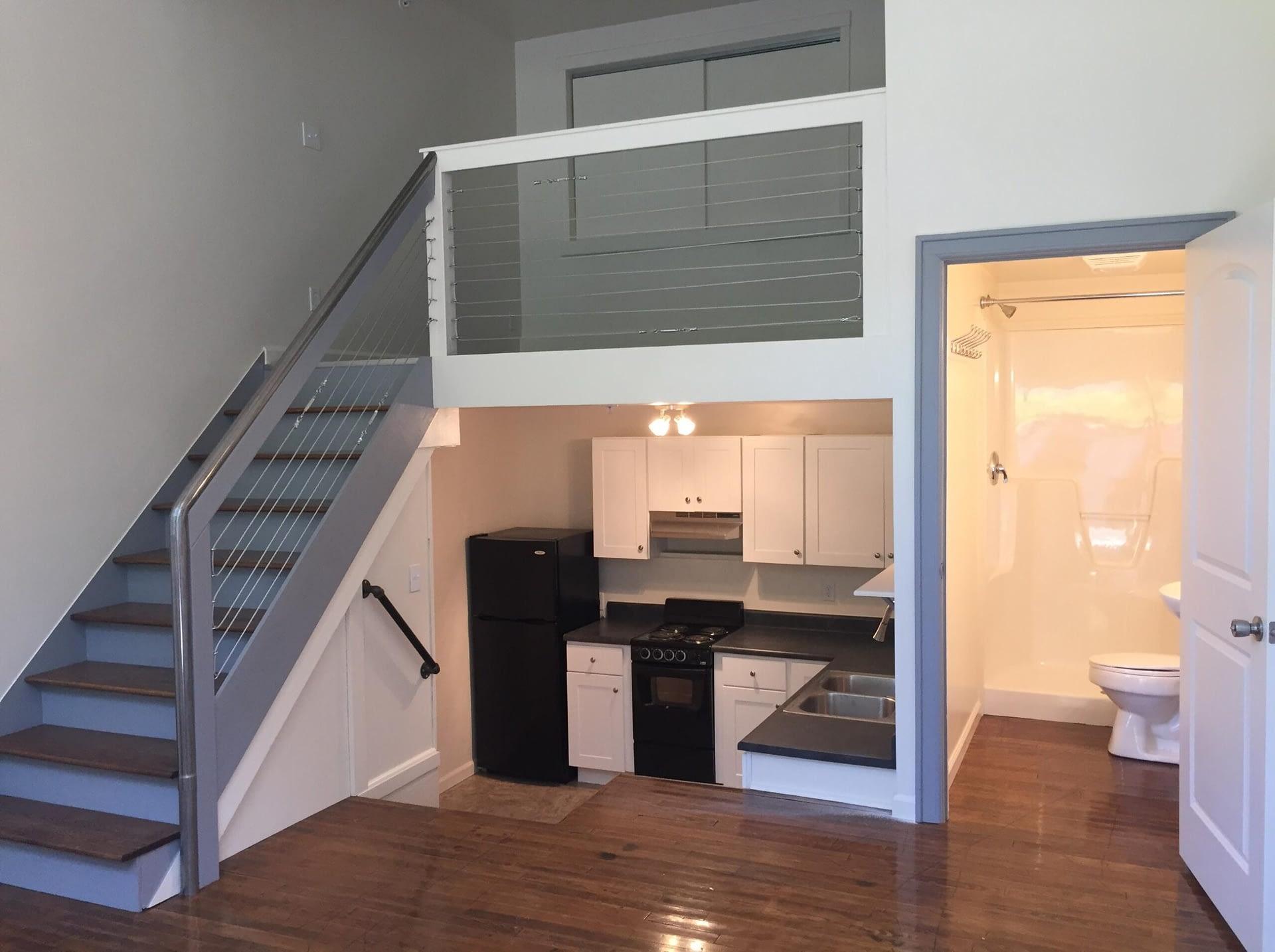 full view if loft apartment