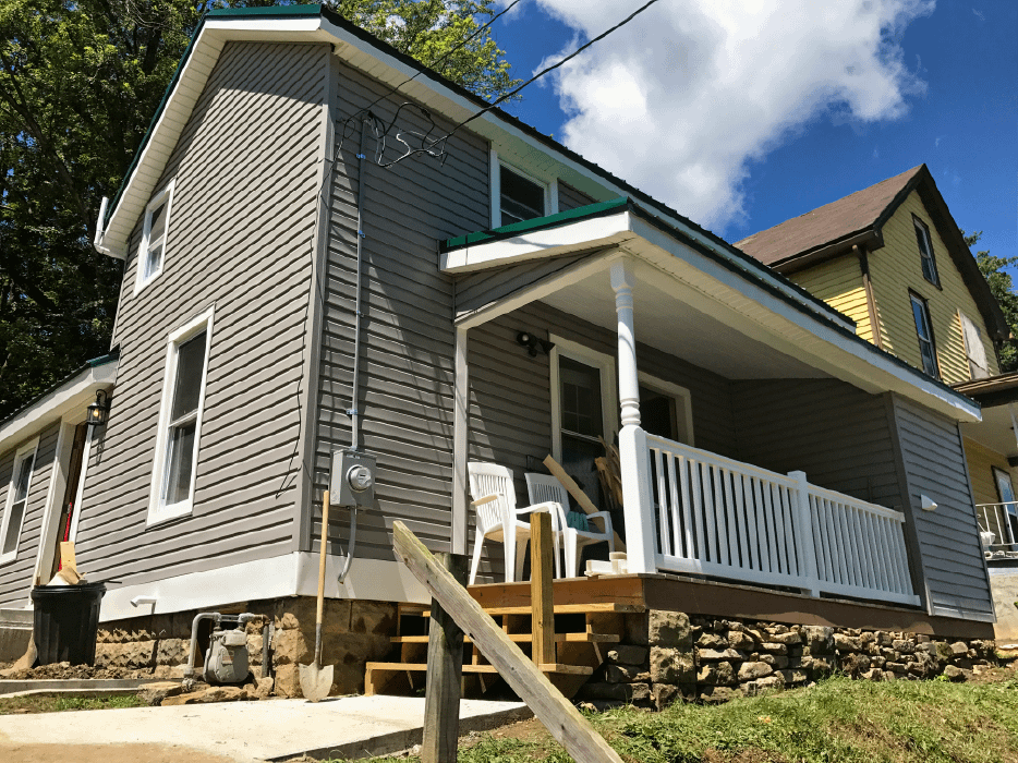 Outside view of 444 White St.