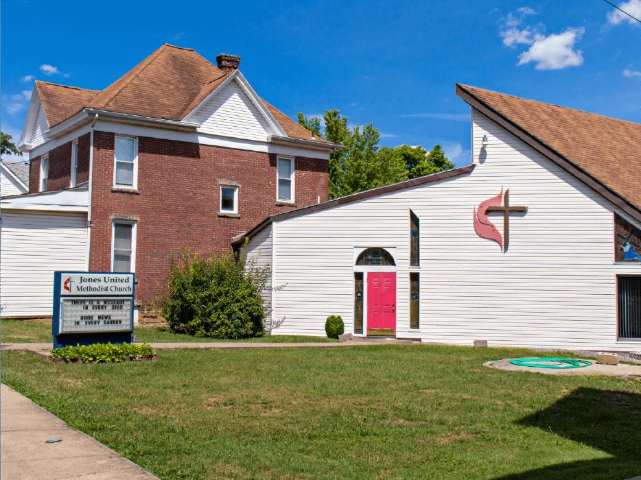 Jones United Methodist Church outside view